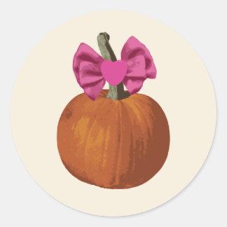 Pegatinas de la niña de Halloween Pegatina Redonda