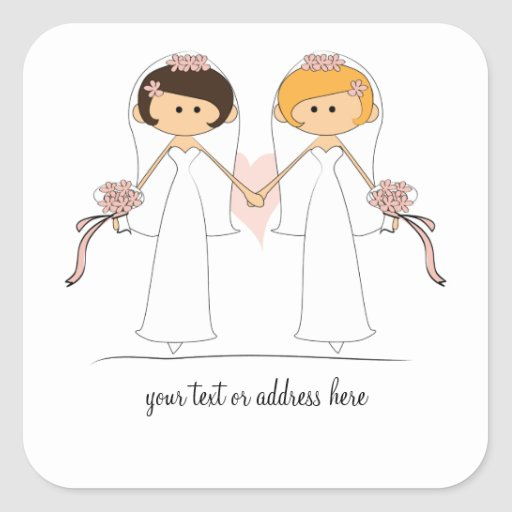 Pegatinas de la novia y del boda de la novia calcomania cuadradas