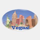 Pegatinas de la opinión del hotel de Las Vegas Calcomanía Óval