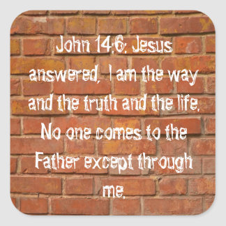 Pegatinas de la pared de ladrillo del 14:6 de Juan Pegatina Cuadrada