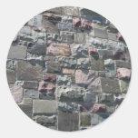 Pegatinas de la pared de piedra etiquetas redondas