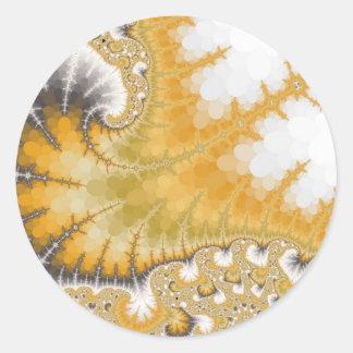Pegatinas de la pastinaca del oro pegatina redonda