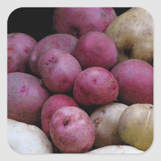 Pegatinas de la patata pegatina cuadrada