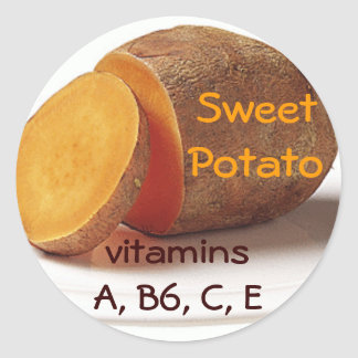 pegatinas de la patata dulce pegatina redonda