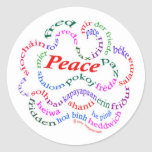 Pegatinas de la paz