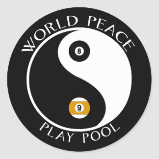 Pegatinas de la paz de mundo pegatina redonda