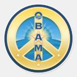 Pegatinas de la paz de Obama Goldstar, en blanco