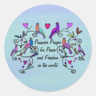 Pegatinas de la paz del Passover Pegatina Redonda
