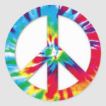 Pegatinas de la paz del teñido anudado