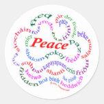 Pegatinas de la paz etiqueta redonda