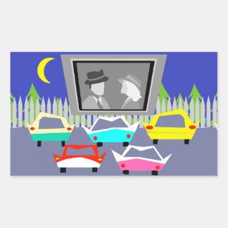Pegatinas de la película del autocinema de la pegatina rectangular