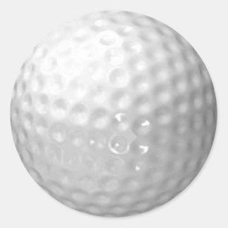 pegatinas de la pelota de golf pegatinas redondas