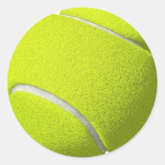 Pegatinas de la pelota de tenis (añada el texto si pegatina redonda