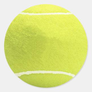 Pegatinas de la pelota de tenis pegatina redonda