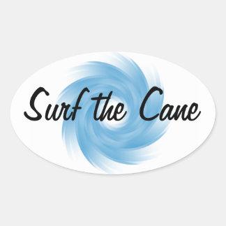 Pegatinas de la PERSONA QUE PRACTICA SURF del Pegatinas Ovaladas Personalizadas