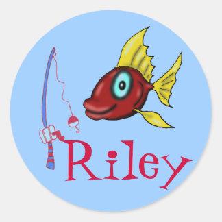 Pegatinas de la pesca para Riley