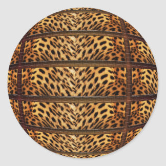 Pegatinas de la piel del leopardo pegatina redonda