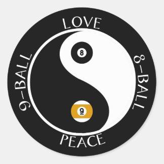 Pegatinas de la piscina de la paz del amor pegatina redonda