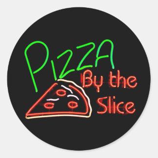Pegatinas de la pizza pegatinas redondas