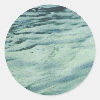 Pegatinas de la plantilla del agua pegatina redonda
