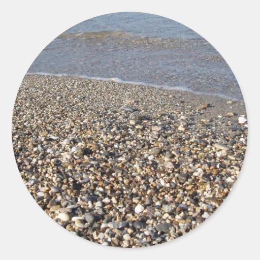 Pegatinas de la playa pegatina redonda