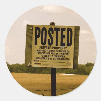 Pegatinas de la propiedad privada
