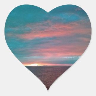 Pegatinas de la puesta del sol del caramelo de pegatina corazon personalizadas