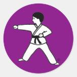 Pegatinas de la púrpura de Karate Kid 1