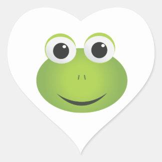 Pegatinas de la rana del corazón pegatinas de corazon
