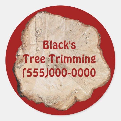 Pegatinas de la rebanada del árbol