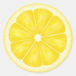 Pegatinas de la rebanada del limón
