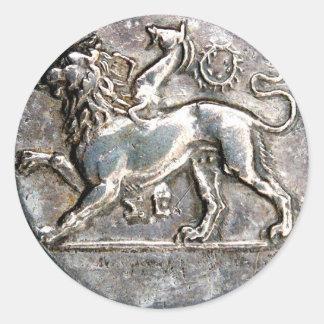 Pegatinas de la recompensa de la moneda de plata pegatinas redondas