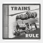 Pegatinas de la regla de los trenes
