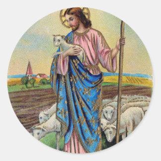 Pegatinas de la resurrección de Pascua Pegatina Redonda