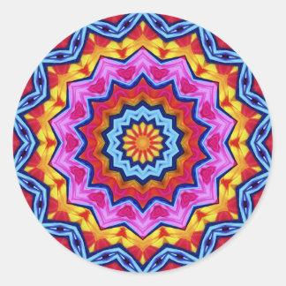 Pegatinas de la rueda de color de la fiesta pegatina redonda