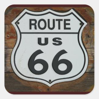 Pegatinas de la ruta 66 colcomanias cuadradass