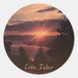 Pegatinas de la salida del sol del lago Tahoe Pegatinas Redondas