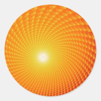 Pegatinas de la salida del sol pegatina redonda