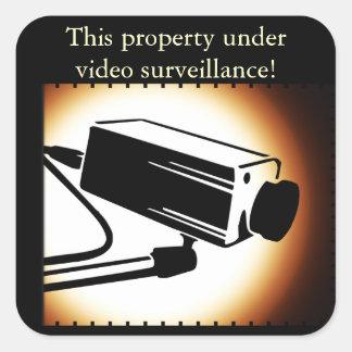 Pegatinas de la seguridad de la vigilancia de la calcomania cuadradas