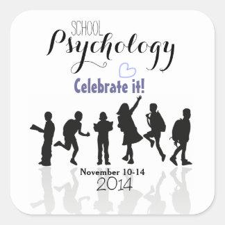 Pegatinas de la semana 2014 de la psicología de la colcomanias cuadradas personalizadas