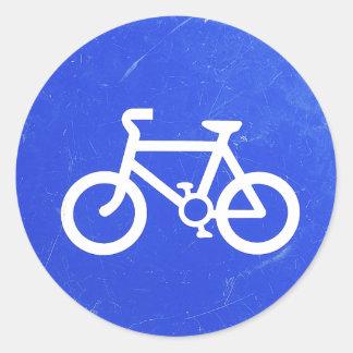 Pegatinas de la señal de tráfico de bicicleta pegatina redonda