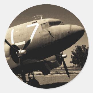 Pegatinas de la sepia del C-47