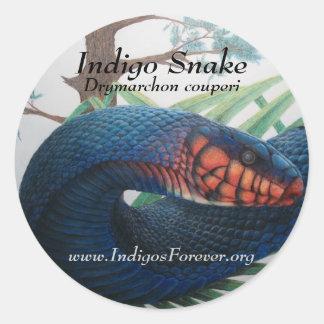 Pegatinas de la serpiente de añil del este pegatina redonda