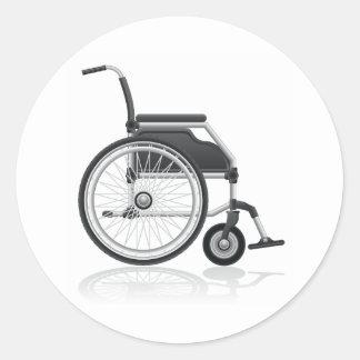 Pegatinas de la silla de ruedas pegatina redonda