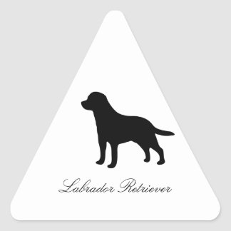 Pegatinas de la silueta del negro del perro del pegatina triangular