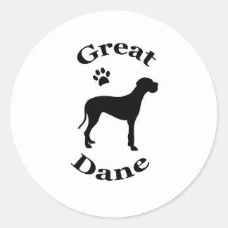 pegatinas de la silueta del pawprint del perro de pegatina redonda
