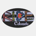 Pegatinas de la snowboard de Colorado del paseo Pegatinas Ovales
