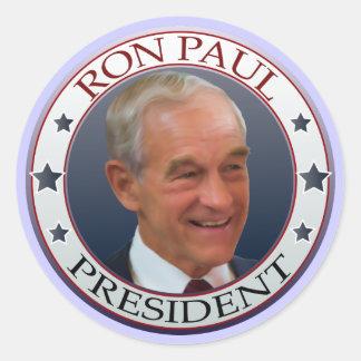 Pegatinas de la solapa de Ron Paul Pegatina Redonda