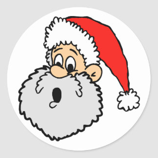 Pegatinas de la tarjeta de Navidad