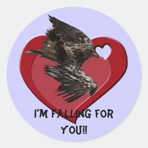 Pegatinas de la tarjeta del día de San Valentín de Pegatina Redonda